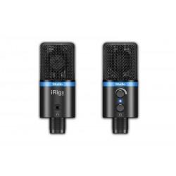 Micrófono de condensador para estudio de alta definición para iPhone, iPod touch, iPad, Mac y Android Negro (IKMULTIMEDIA)