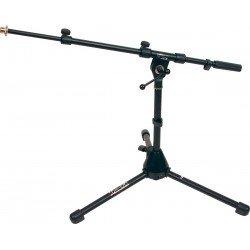 Pie de micrófono. Base metálica. Color negro. Completamente ajustable (RTX)