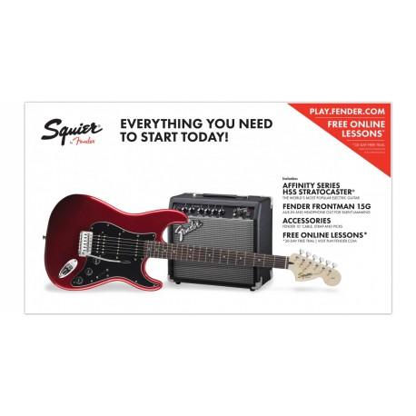 Fender Squier Affinity Strat Pack HSS 15G CAR