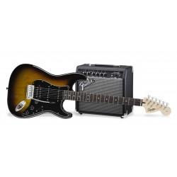 PACK GUITARRA AFFINITY SERIES STRATOCASTER® HSS BSB AMPL 15G