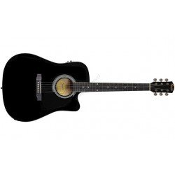 SQUIER SA-105CE DREADNOUGHT CUT BLK