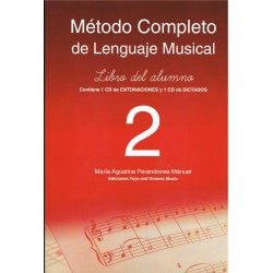 Perandones Manuel, Mª Agustina. Método Completo de Lenguaje Musical 2. Libro del Alumno +2CD
