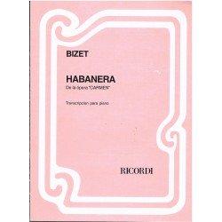 """Bizet, Georges. Habanera de la Opera """"Carmen"""" para Piano"""