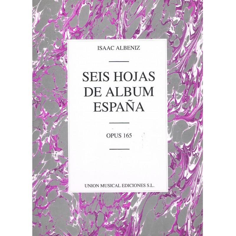 Albéniz, Isaac. Seis Hojas de Album. España Op.165 (Piano)