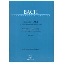 Bach, J.S. Concierto en La menor BWV 1041 Urtext (Red. Violín y Piano)