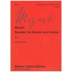 Mozart. Sonatas para Violín y Piano Vol.3 Urtext