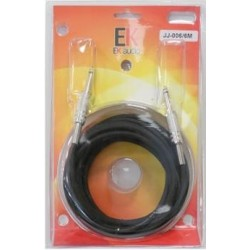 Cable para guitarra EK audio JJ0066 Jack-Jack rectos