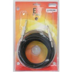 Cable para guitarra EK audio JJ0063 Jack Jack rectos