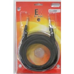 Cable para guitarra EK audio PJJ0043 Jack-Jack rectos