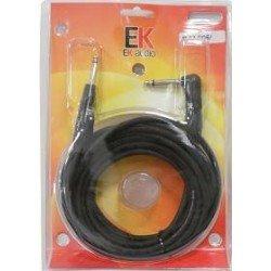 Cable para guitarra EK audio PJJ0066 Jack Jack recto acodado