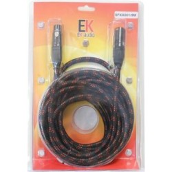 Cable Trenzado de Tela para Microfono SFXX001 XLR XLR macho hembra 9 mts