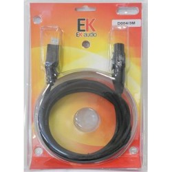 Cable D004, USB-XLR, 3 mts
