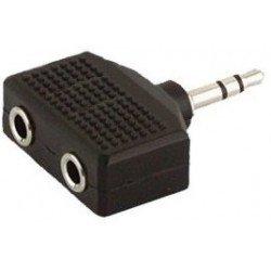 Adaptador Dual MiniJack Stereo 35 mm Hembra x2 MiniJack Stereo 35 mm A107