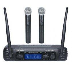Dos Microfonos Inalambricos de mano EK audio Sistema WR 69LD VHF
