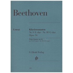 Beethoven. Sonatas Op.14 Nº9 en Mi Mayor y Nº10 en Sol Mayor. Urtext (Piano)