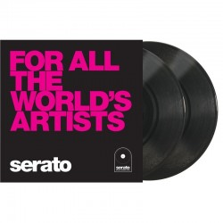 "SERATO PERFORMACE SERIES 10"" BLACK WORLD'S ARTISTS"