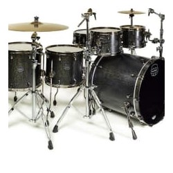 BATERIA MAPEX. SATURN SV628XEBKFB Flat Black Maple Burl
