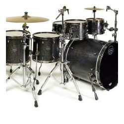 BATERIA MAPEX SATURN SV628XEBKFB Flat Black Maple Burl