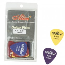 DERLIN PICKS 0.88MM CLAMSHELL 12 PCS. AP12088T