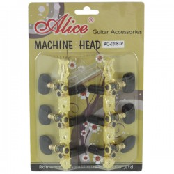 GOLD-PLATED 3 MACHINE HEAD...