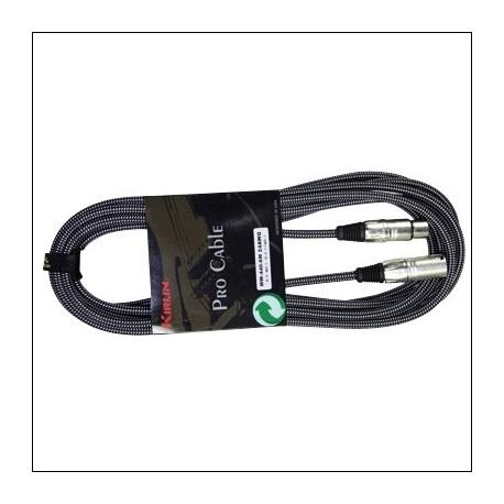 MW-440-3M CABLE MICROFONO TELA XLR M-XLR F