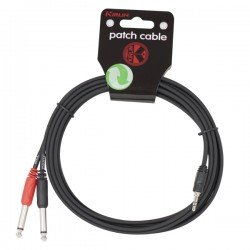 CABLE AUDIO YE-362-3M MINI JACK M- 2 JACK M