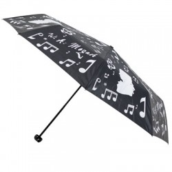 FOLDING UMBRELLA BLACK/SILVER ZBU01