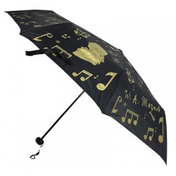 FOLDING UMBRELLA BLACK/GOLDEN ZBU03