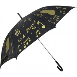 UMBRELLA BLACK/GOLDEN ZBU04