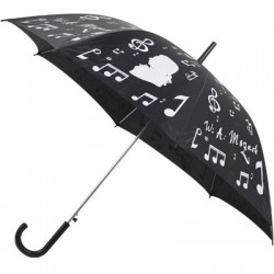 UMBRELLA BLACK/SILVER ZBU05