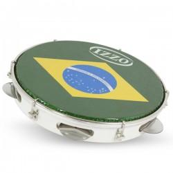 """PANDEIRO 10"""" WOOD BRASIL HEAD IZ3400"""