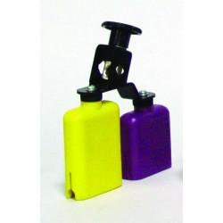 PLASTIC TEMPLE BLOCK YELLOW-PURPLE DB0733 DOUBLE