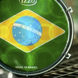 "6"" PARCHE TAMBORIM BANDERA BRASIL REF. IZ2675"