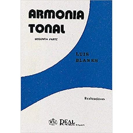 Blanes. Armonía Tonal 2ª Parte Realizaciones. Real Musical
