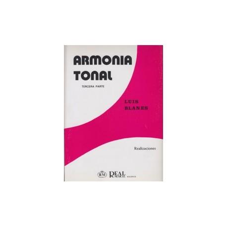Blanes. Armonía Tonal 3ª Parte. Realizaciones. Real Musical