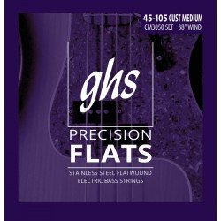 GHS JUEGO BAJO PRECISSION FLATS CUSTOM MEDIUM 45 105