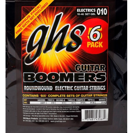 GHS PACK 5 UD JUEGO ELeCTRICA BOOMERS NICKEL LICHT 10 46