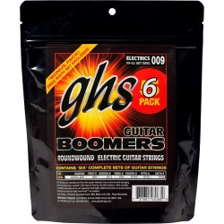GHS PACK 5 UD - JUEGO ELÉCTRICA BOOMERS® NICKEL EXTRA LIGHT 9-42 (GHS)
