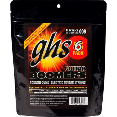 GHS PACK 5 UD JUEGO ELeCTRICA BOOMERS NICKEL EXTRA LIGHT 9 42