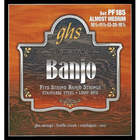 GHS JUEGO BANJO STAINLESS STEEL 5ST ALMOST MEDIUM