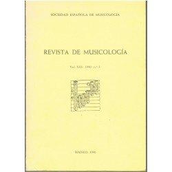 Revista de Musicología Vol.XIII 1990 nº3