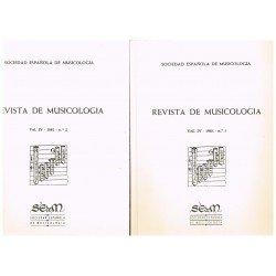 Revista de Musicología Vol.4 (1981 nº1-2)