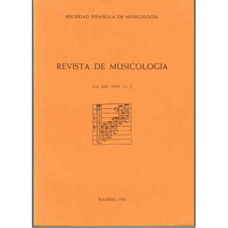 Revista de Musicología Vol.12 (1989 nº2)
