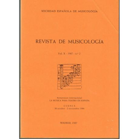 Revista de Musicología Vol.10 (1987 nº2)