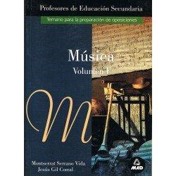 Serrano/Gil. Música Vol.1. Temario Preparación Oposiciones Profesores Secundaria
