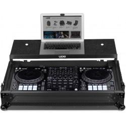 u91055bl udg ultimate flight case pioneer ddj 1000 black plus laptop shelf wheels