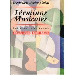 Gonzalez Casado, Pedro. Términos Musicales. Diccionario Técnico Español/Inglés/Español