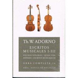 Adorno, Theodor. Escritos Musicales I-III