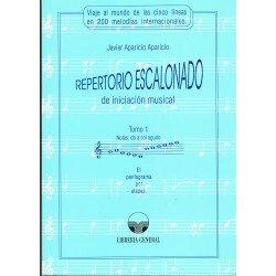 Aparicio, Javier. Repertorio Escalonado de Iniciación Musical Tomo 1