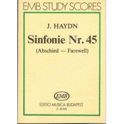 Haydn, Joseph. Sinfonía Nº45 en FA Sostenido menor (Partitura de Bolsillo)